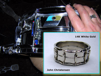 Click to see the Snare Drum Ring, Ludwig Supraphonic